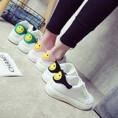 小白鞋女春季韓版運動鞋百搭平底板鞋皮面白色鞋子學生女鞋潮優家小鋪