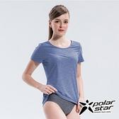 PolarStar 女 輕量排汗T恤『藍紫』P21124 排汗衣 排汗衫 吸濕快乾 露營.戶外.吸濕.排汗.透氣.快乾