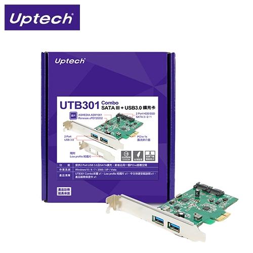 登昌恆 UTB301 Combo SATA3 + USB3.0擴充卡