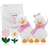 OPretty 歐沛媞 車用香氛擴香石擺飾-元氣加油鴨禮盒(粉色)