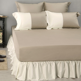 《 60支紗》單人床包枕套二件組【波隆那 - 米色】-麗塔LITA -