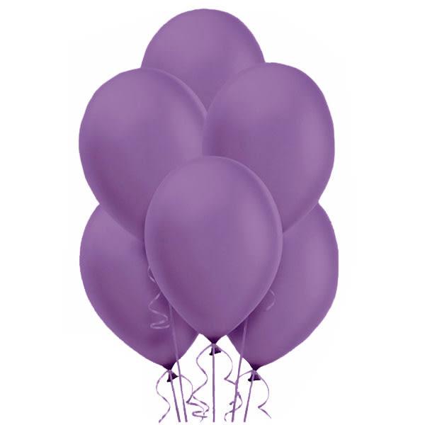 12吋珠光乳膠氣球15入-薰衣草紫