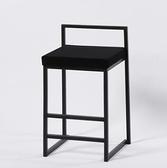 吧檯椅 北歐吧臺椅設計師現代簡約家用酒吧椅個性前臺高腳凳工業風椅【快速出貨八折鉅惠】