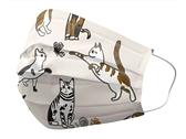 善存 優美特 成人醫療口罩 隔壁的貓(白) 25入/盒【躍獅】