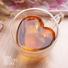 SISI【G7005】心型(大款)雙層隔熱茗茶杯高硼矽玻璃耐熱隔熱茶杯咖啡杯生日聖誕情人節交換禮物