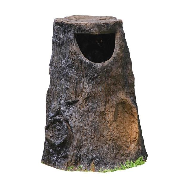 公園景區垃圾桶 戶外仿樹樁分類垃圾箱大號 園林庭院防腐木垃圾筒 夢幻小鎮「快速出貨」