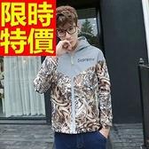防風外套 連帽男夾克-焦點經典經典款秋冬美式風63j29【巴黎精品】
