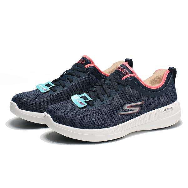 SKECHERS 慢跑鞋 GO WALK STABILITY 藍紅 寬楦 固特異底 女 (布魯克林) 124603WNVCL