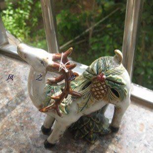 陶瓷財鹿擺件