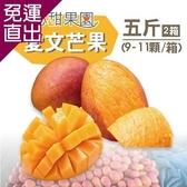 沁甜果園SSN- 屏東枋山愛文芒果5台斤2箱(9-11粒裝) E00900057【免運直出】