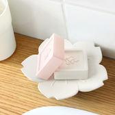 【BlueCat】白粉大櫻花造型 香皂盤