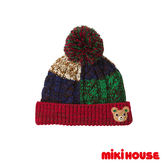 MIKI HOUSE  可愛小熊造型保暖針織帽(藍)