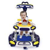 學步車6/7-18個月寶寶學行防側翻多功能嬰兒童可坐手推折疊帶音樂  糖糖日系森女屋YYP