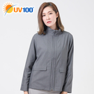 UV100 防曬 抗UV-極簡舒柔摺紋立領外套-女