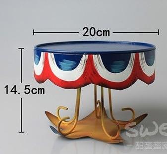 【協貿國際】手繪生日蛋糕盤周歲party甜品台(小)