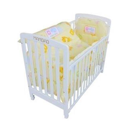 夢貝比嬰兒床快樂園地日規大床(白色)+快樂園地七件式被組 4980元