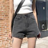 牛仔短褲韓版寬鬆卷邊a字熱褲
