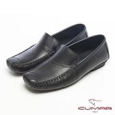 CUMAR英倫風格●樂活生活淺口帆船樂福鞋-黑