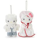 【震撼精品百貨】Hello Kitty 凱蒂貓~HELLO KITTY&DANIEL浪漫婚禮系列絨毛娃娃吊飾組-日式和風