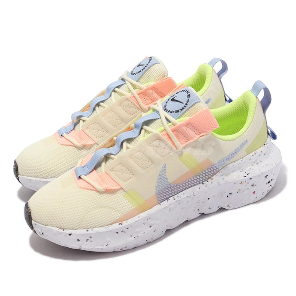 Nike 休閒鞋 Wmns Crater Impact 米白 黃 藍 粉紅 女鞋 回收材質 運動鞋 【ACS】 CW2386-700