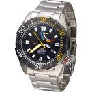 東方錶 ORIENT 200米動力儲存潛水機械錶 SEL0A001B 黑x黃