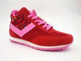 My Foot PONY 女款 SOHO系列 透氣 中筒復古慢跑鞋 - 紅x粉 61W1SO73RD