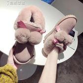 雪靴雪地靴女冬季甜美毛球雪地靴女時尚加絨保暖防滑兔毛棉鞋奈斯女装