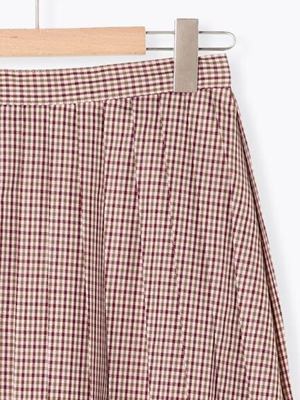 「Autumn」細格紋ALINE百褶裙 (提醒 SM2僅單一尺寸) - Sm2