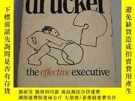 二手書博民逛書店drucker罕見the effective executiveY354667 Drucker PAN
