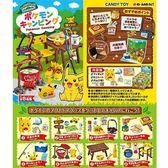 盒裝8款【日本正版】皮卡丘 歡樂野餐組 盒玩 擺飾 寶可夢 神奇寶貝 Re-Ment - 203478