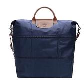【LONGCHAMP】手提斜背二用旅行袋(可加大款)(海軍藍) 1911089556