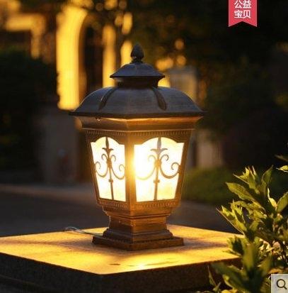 特惠 朗吉蒂圍牆燈柱頭燈上方花園別墅戶外燈防水牆頭門柱燈景觀庭院燈(不送光源)