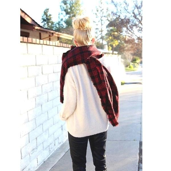 <特價出清>英倫風千鳥格人造羊毛雙面披肩 歐美格子保暖圍巾【AF09109】 99愛買小舖