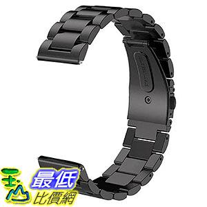 [106美國直購] V-Moro 100620 黑 不鏽鋼錶帶 (適用手腕125mm-215mm) 22mm Replacement Strap for Samsung Gear S3