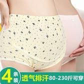 4條裝孕婦內褲純棉高腰懷孕期托腹內衣夏抗菌短褲頭女透氣大碼產婦通用