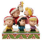 Enesco Snoopy 史努比與好友聖誕塑像_EN28955