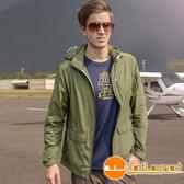 Wildland 荒野 0A31908-05灰綠色 男SUPPLEX抗UV時尚外套