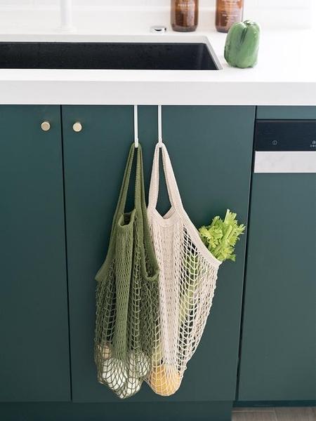 購物包 述物家用購物袋女包手提環保袋鏤空水果蔬菜買菜袋子便攜折疊網兜【快速出貨八折鉅惠】