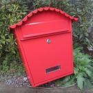 鐵藝歐式報箱創意郵筒防水郵箱印字心理別墅信箱室外壁掛多地【快速出貨】