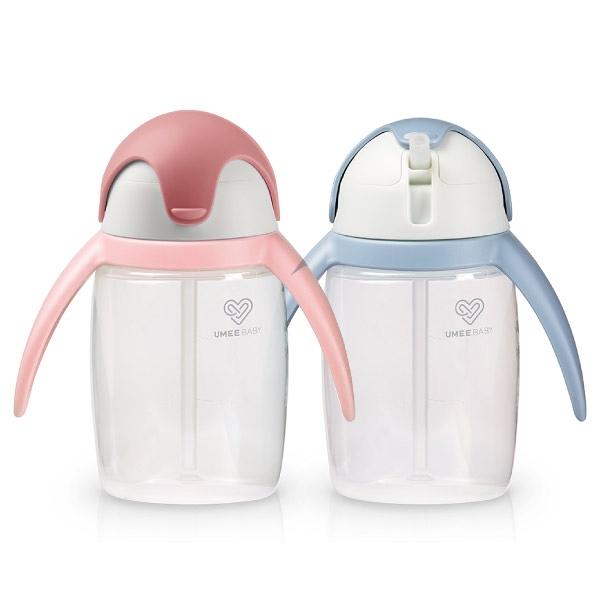 荷蘭 UMEE 優酷企鵝杯360ml(粉/藍)水杯|學習杯|喝水杯