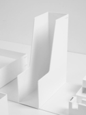 紐賽簡易桌面檔框資料框檔夾收納盒書立檔架收納架辦公用品檔案檔筐  ATF  極有家