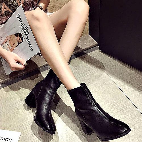 克妹Ke-Mei【ZT53733】重推!歐洲站辛辣龐克街拍英倫風馬汀靴