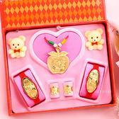 金寶珍銀樓-平平安安-彌月金飾音樂禮盒(0.70錢)