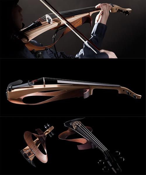 【敦煌樂器】YAMAHA YEV104 BL 電子小提琴 經典黑色款