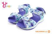 MERRELL 涼鞋 中童 足弓型 水陸兩棲戶外多功能涼鞋 I6728#水藍◆OSOME奧森童鞋