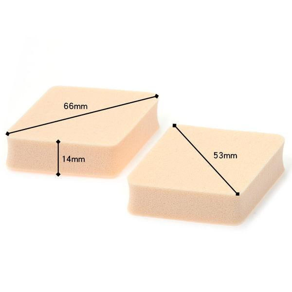 《日本製》粉撲海綿 Chasty 閃耀肌粉餅專用菱形N 2入 (434313)  ◇iKIREI