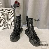 馬丁靴女英倫風短靴加絨鞋子潮靴子秋冬百搭【時尚大衣櫥】