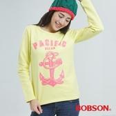 BOBSON 印圖上衣  (黃色33128-30)