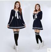 日韓少森女學生春夏裝海軍學院風校服休閒套裝演出服水手服背帶裙