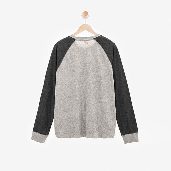 男裝ROOTS 巴迪長袖T恤-灰色